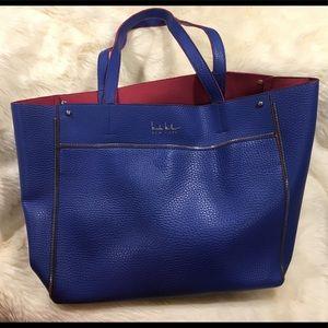 Handbags - Nicole Miller unlined shopper tote in blue
